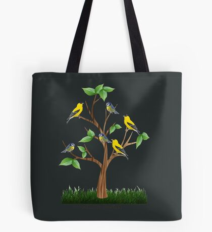 A Fairy sitting on a Holly branch ( 1186 Views) Tote Bag
