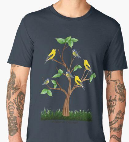 A Fairy sitting on a Holly branch ( 1186 Views) Men's Premium T-Shirt