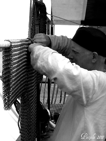 Medieval chainmail crafter by patjila