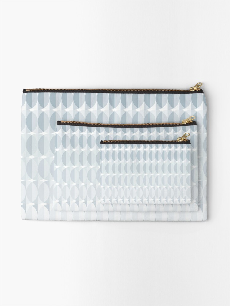 Alternate view of leaves in the mist - a pattern in ice gray Zipper Pouch