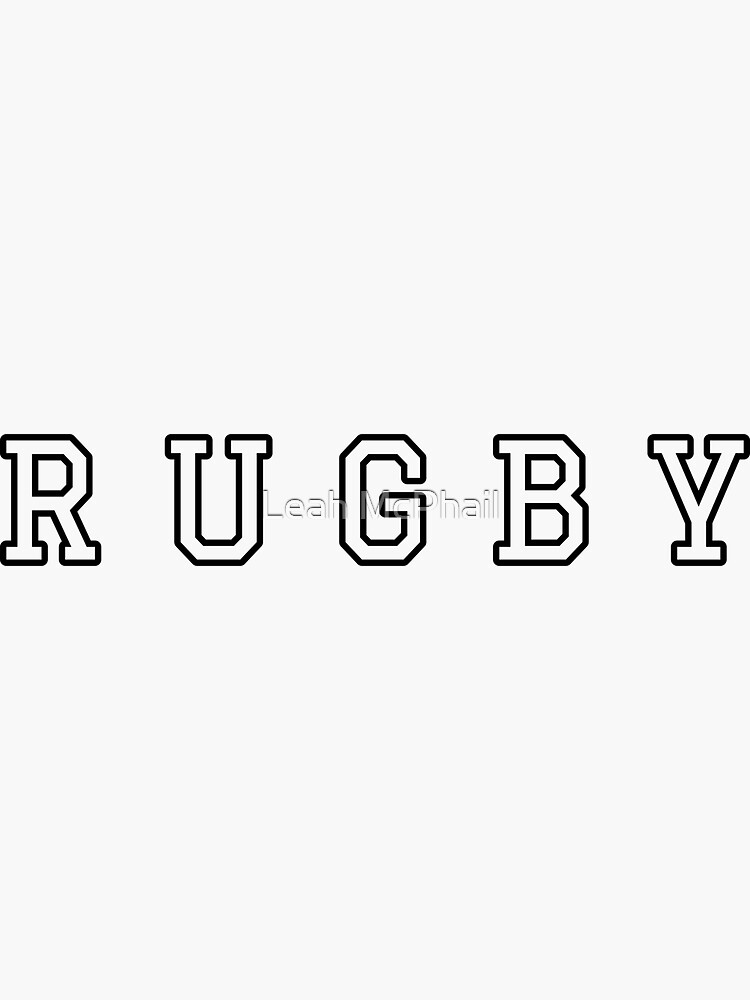 Rugby Typography  by LeahMcPhail