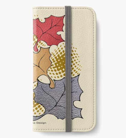 Thanks giving  & 3 leaves pattern ( 183 Views) iPhone Wallet