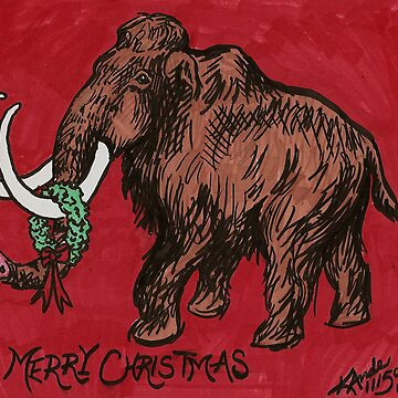 Mammoth Christmas Card by Kandeart