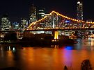 Storey Bridge viewed from Wilson Outlook Reserve. by W E NIXON  PHOTOGRAPHY
