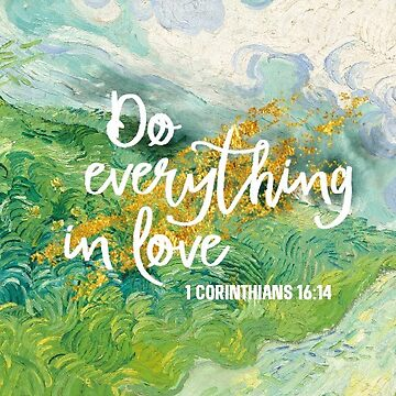 Do Everything In Love. Inspirational Quotes. Sticker.  by STYLESYNDIKAT