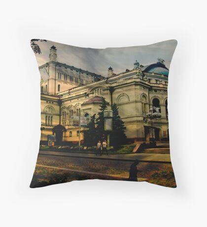 Kiev Opera Throw Pillow