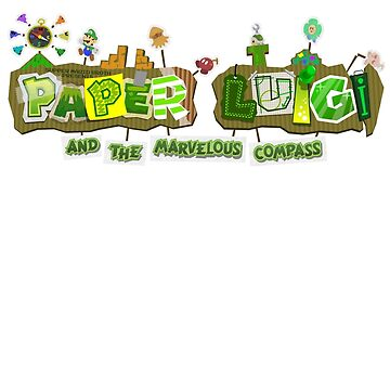Paper Luigi and the Marvelous Compass by MarioBroth