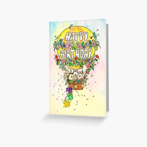 Alles- Gute zum Geburtstagballongrußkarte durch Nicole Janes Grußkarte