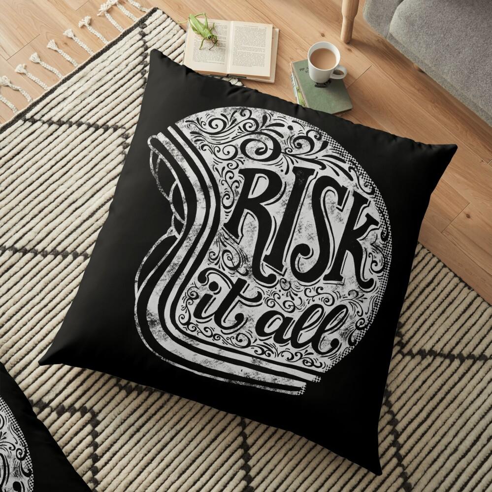 Risk It All Floor Pillow