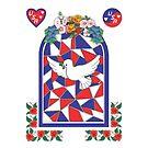 USA Peace Dove by Faith Dominoe