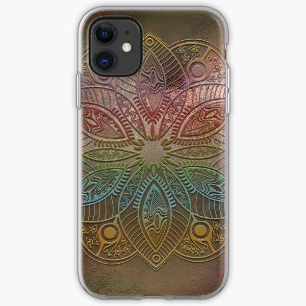 Mobile skin mandala colors iPhone Soft Case