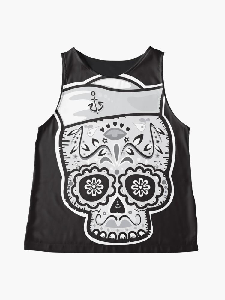 Alternate view of Marinero muerto sugar skull Sleeveless Top