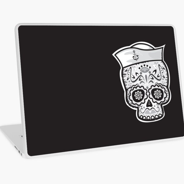 Marinero muerto sugar skull Laptop Skin