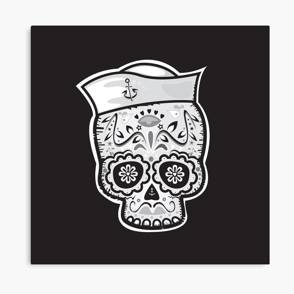 Marinero muerto sugar skull Canvas Print