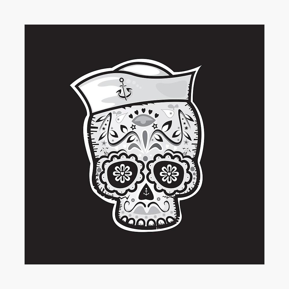 Marinero muerto sugar skull Photographic Print