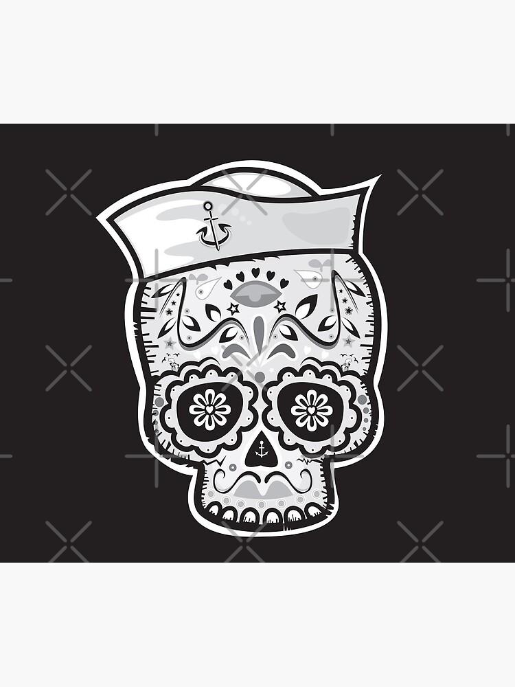 Marinero muerto sugar skull by mangulica