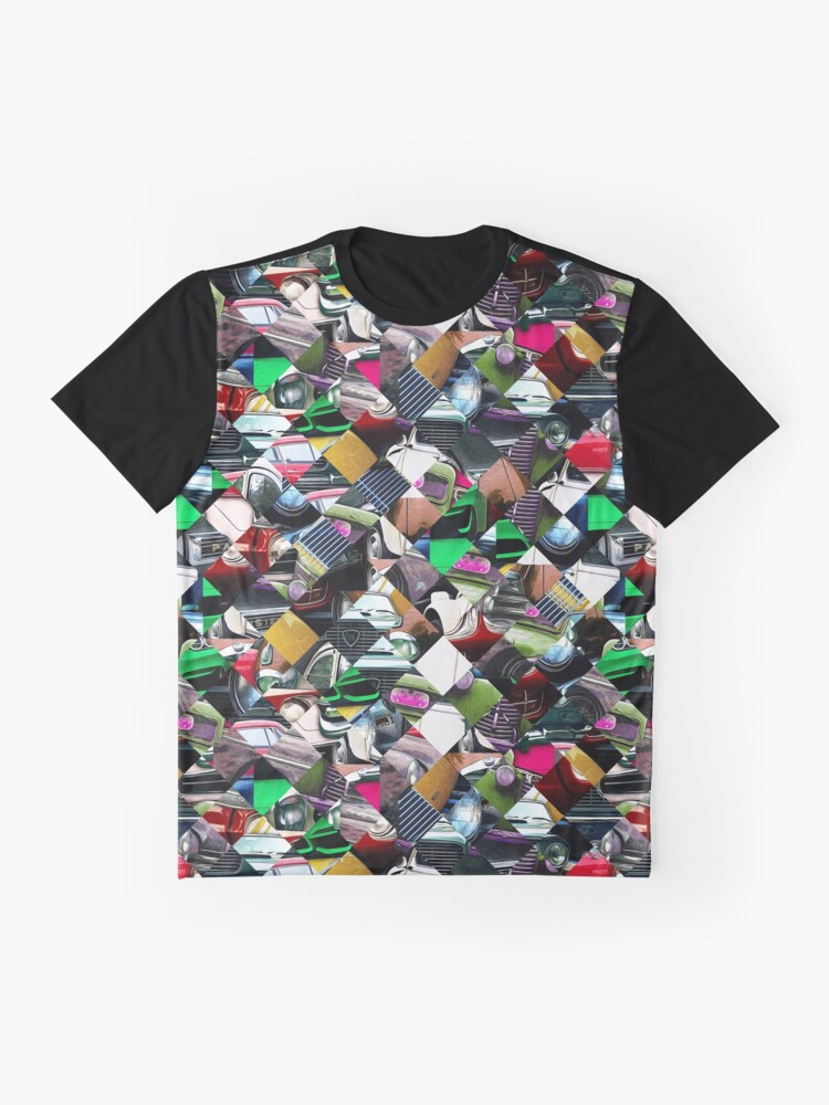 Alternate view of Colorful Automotive Abstract Graphic T-Shirt