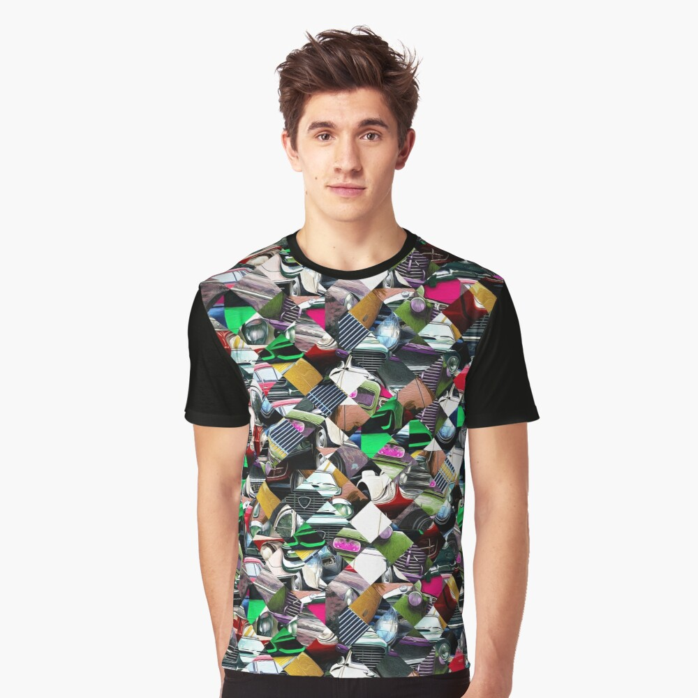 Colorful Automotive Abstract Graphic T-Shirt