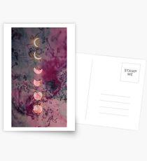 Mondphase Postkarten