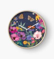Honeysuckle and Anemones Clock