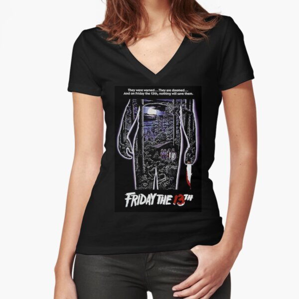 Friday The 13Th Fitted V-Neck T-Shirt