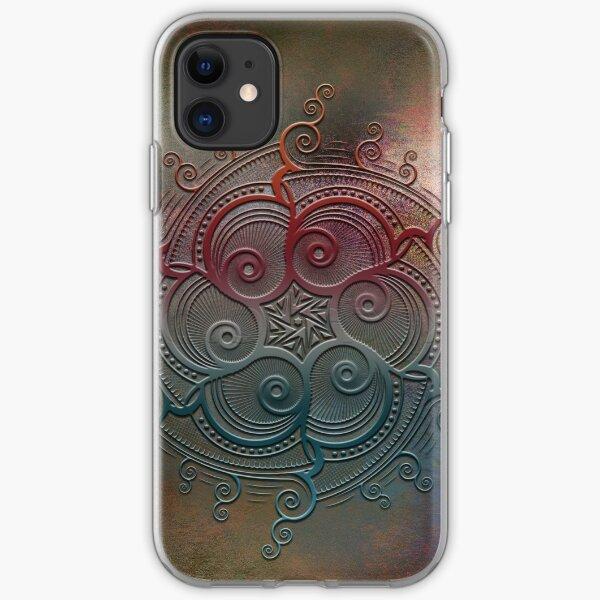 Mobile skin case mandala split iPhone Soft Case