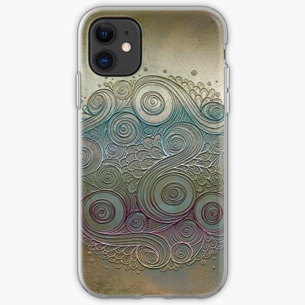 Mobile skin case mandala diff iPhone Soft Case
