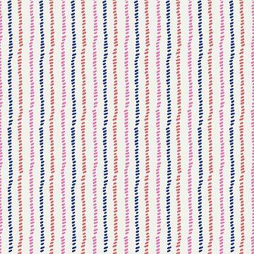 Vertical, dotted textured stripe on cream by Pattern-Design
