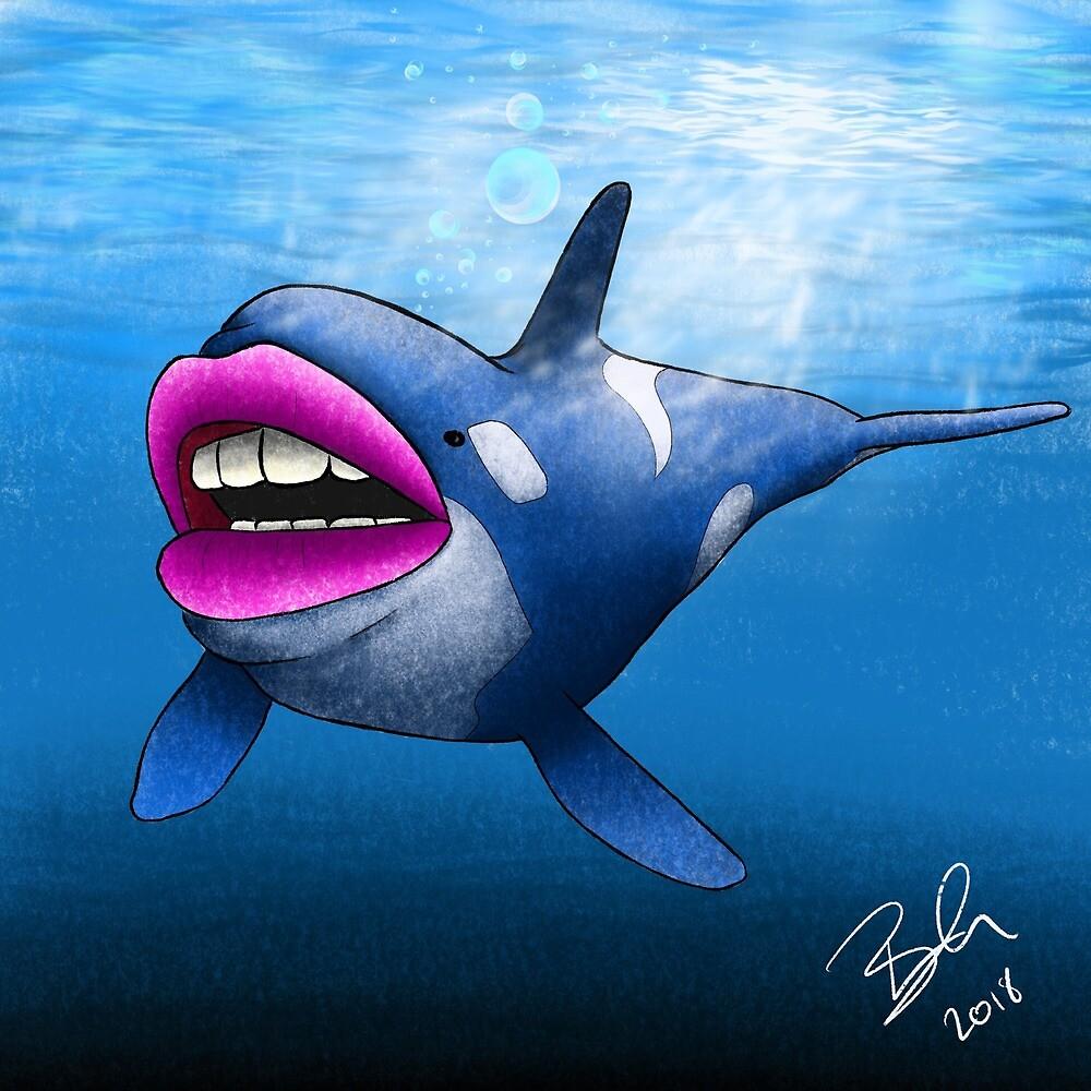 Kisser whale by AssassinTuna