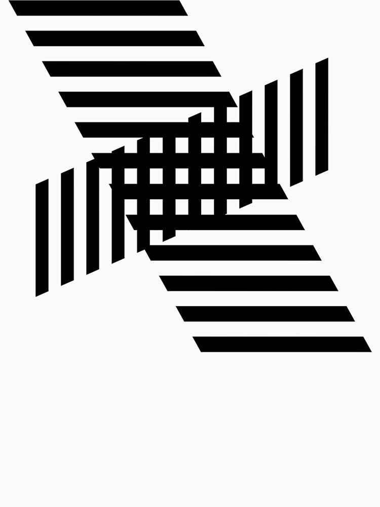 Minimalist Geometric Stripe Block Black on White by Modernicity
