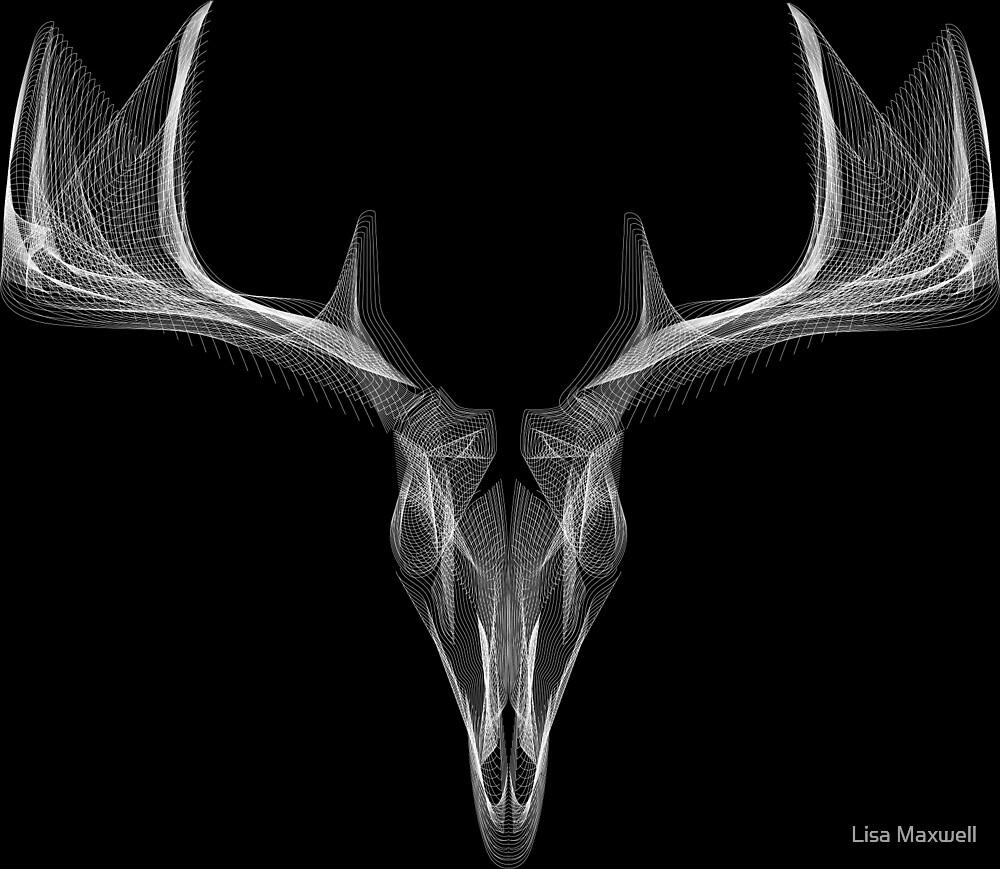 White deer head by Lisa Maxwell