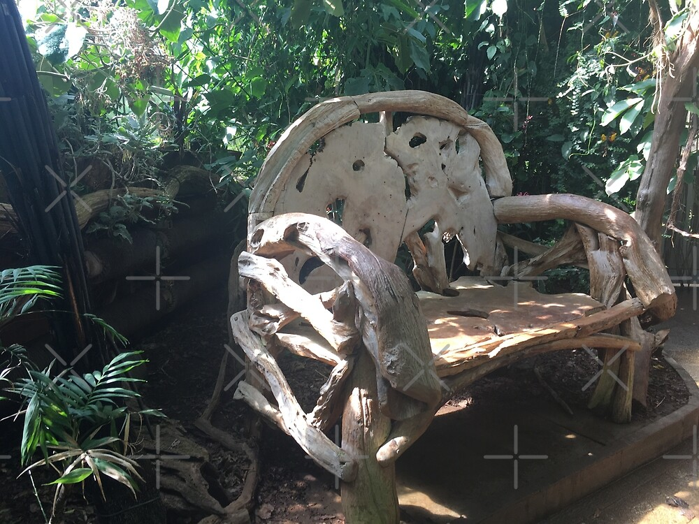 Peaceful wooden bench by DinkyDD