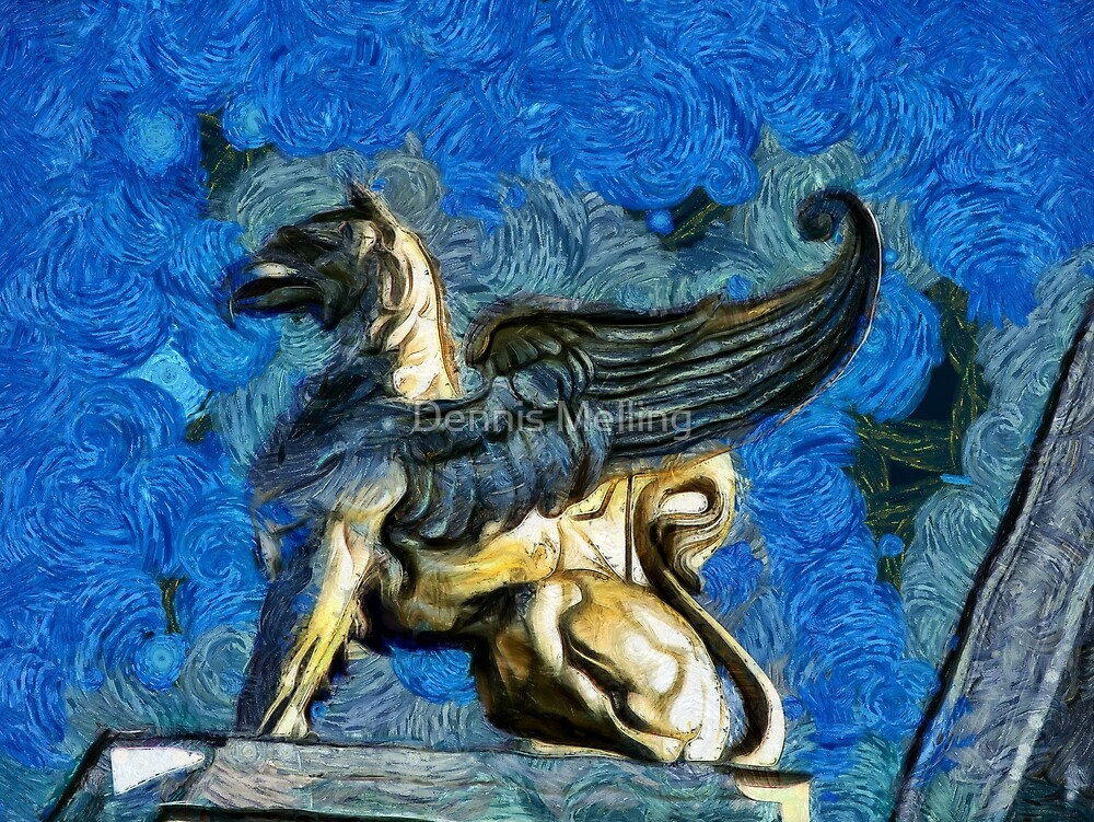 A Roof Decoration on the Cultural Palace in Drobeta Turnu Severin, Romania by Dennis Melling