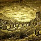 Edinburgh, the Old North Bridge 1767 by Dennis Melling