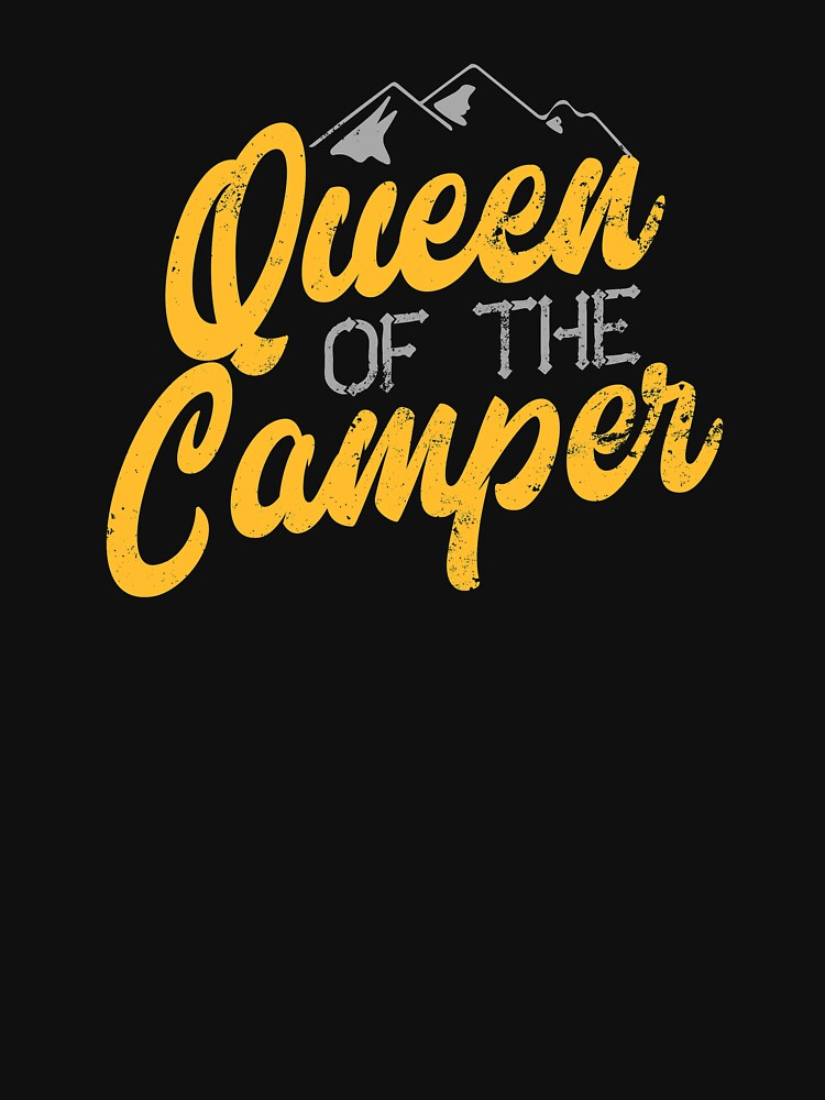 Cool camping queen shirt by IsiTees