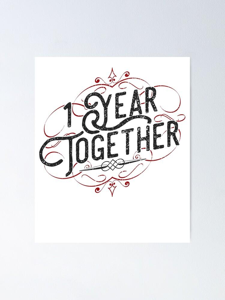 1 Jahr Zusammen Erstaunliches Paar Jahrestag Geschenk Poster