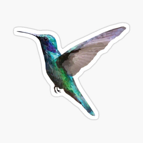 Polygons triangle rain forest humming bird Sticker