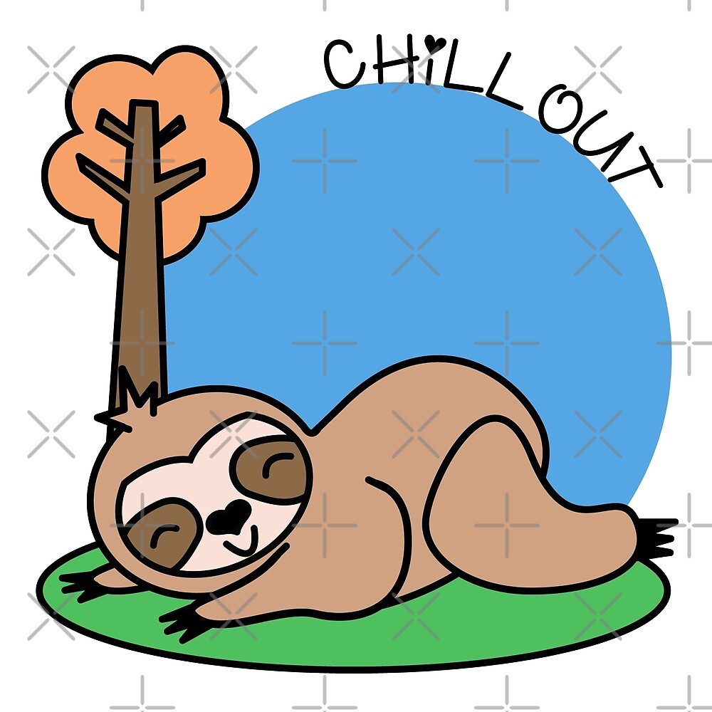 Felhy the chilled out sloth by veganstickers