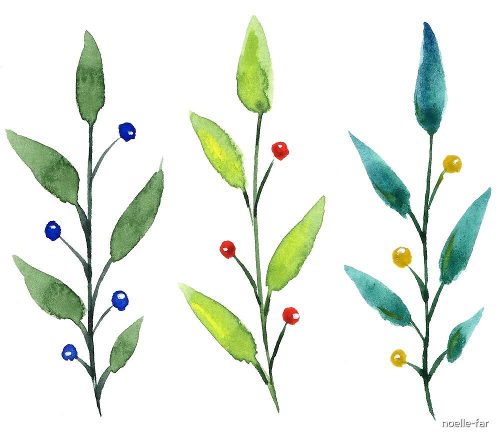 Leaves and berries by noelle-far