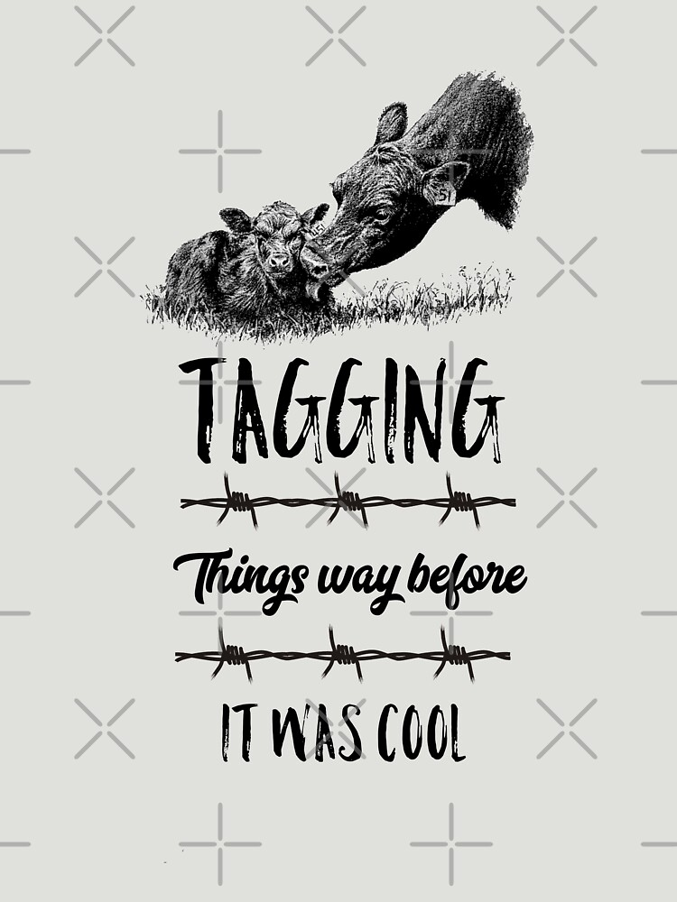 Tagging Things Before It Was Cool Black Angus Cows  by CheerfulDesigns