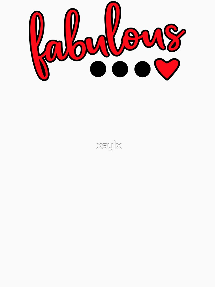 fabulous word with sweet heart graphic by xsylx