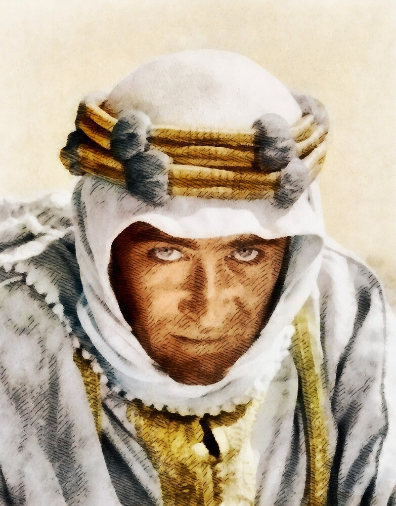 Peter O'Toole, Vintage Movie Star as Lawrence of Arabia by SerpentFilms