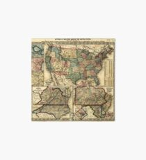 Mitchell's Military Map of the United States (1861) Art Board