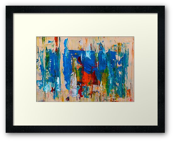 Blue and beige with a dash of red by Steve Johnson