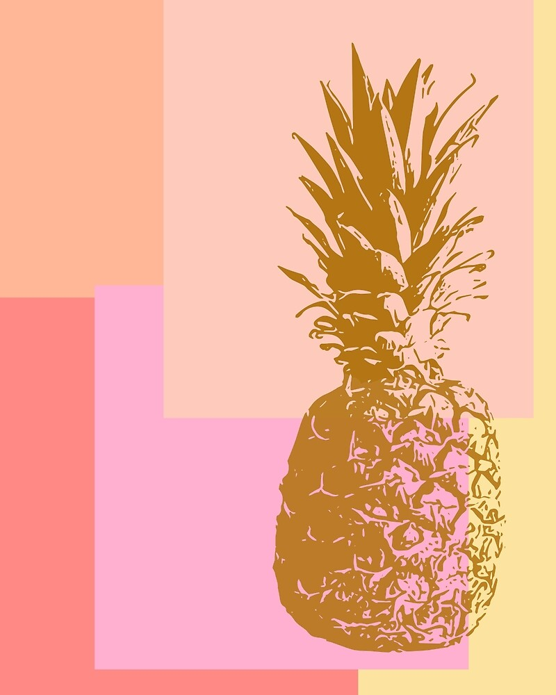 Pineapple and Pink by JuneJournal