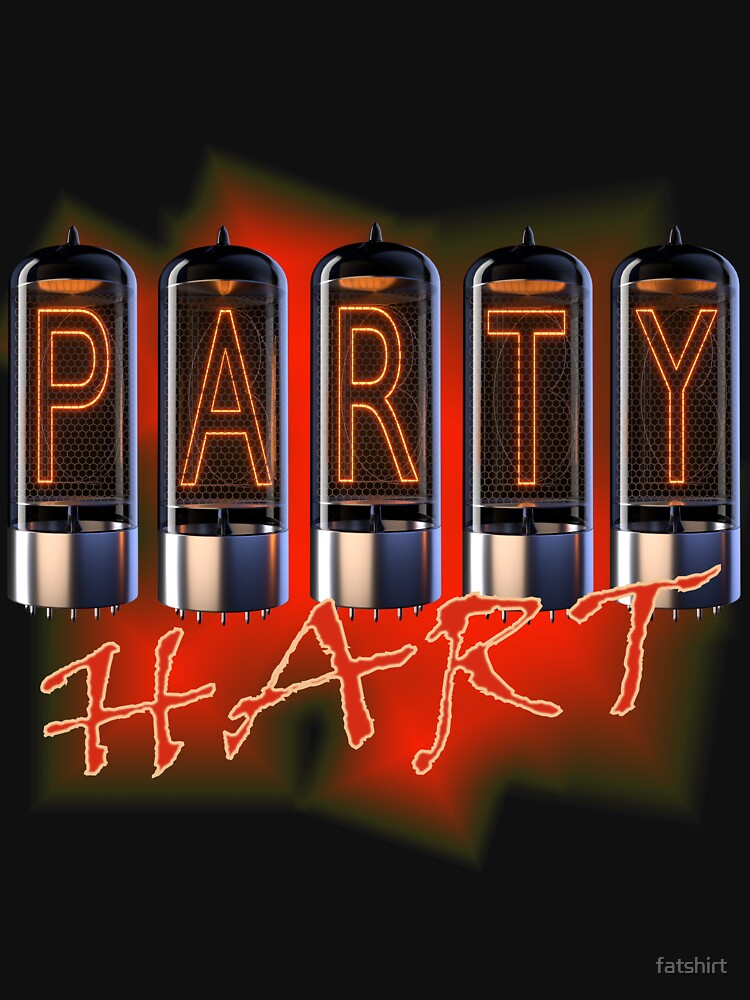 Party Hard Tees Man Woman T-Shirt by fatshirt