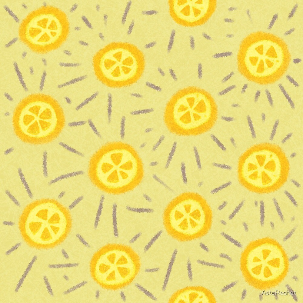 Summer Rainbow Patterns Collection - Yellow by AstaReshet