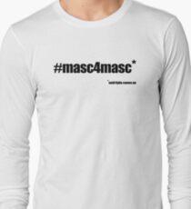 #masc4masc black text - Kylie Long Sleeve T-Shirt