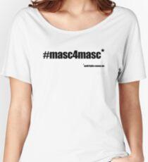 #masc4masc black text - Kylie Women's Relaxed Fit T-Shirt