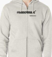 #masc4masc black text - Kylie Zipped Hoodie